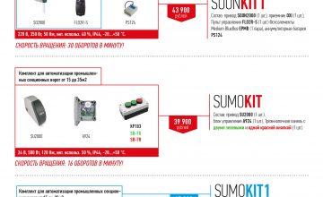 2Обновление цены на комплекты для автоматизации промышленных секционных ворот!!!